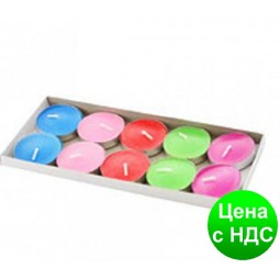 "Свечи круглые (таблетка 60 гр) 035-1  10 шт/ 3.5cm ""Лаванда,Яблоко,Киви,Лимон"""