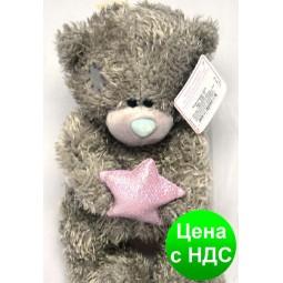 """Игрушка """"Мишка Тедди"""" со звездой (плюшевый) 28 см."""