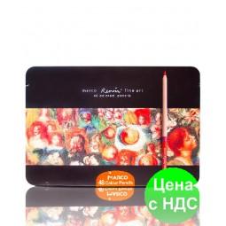 """Карандаши цветные акварельные """"MARCO"""" Renoir в металлическом пенале (48 цветов)"""