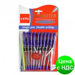 """Ручка Cello """"Maxriter"""" 4 км. дубликат + дополнительная ручка (фиолетовая)"""