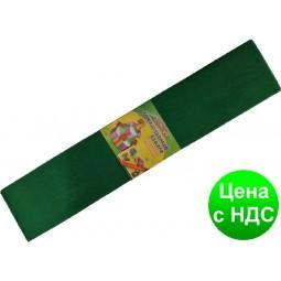 "Бумага креповая 7736 ""Мультяшки"" зеленая 50*200 см."