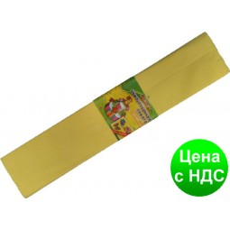 "Бумага креповая 7738 ""Мультяшки"" желтая 50*200 см."
