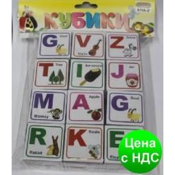 """Кубики пластиковые """"Английские буквы"""""""