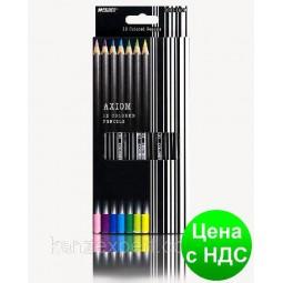 Набор цветных карандашей Marco Axiom, 12 цветов