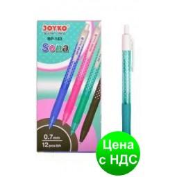 Ручка шариковая автоматическая Joyko Sona синяя