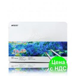 """Карандаши цветные """"MARCO"""" Raffine в металлическом пенале (50 цветов)"""