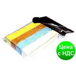 """Мел мягкий Пакет """"Люкс-Колор"""" цветной квадратный (3 цв.) (80x16x16 мм.)"""