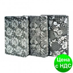 """Блокнот LYA51285-1522D """"Узоры"""" с серебряным напылением (128 листов, 12.8*18.8 см.)"""