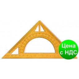 Треугольник-транспортир (пластмассовый) 20 см