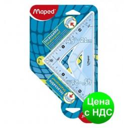 Треугольник UNBREAKABLE 45гр/210мм (гипотенуза) пластик, блистер MP.244421