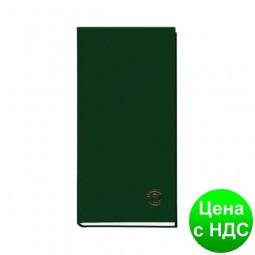 Книга алфавитная А6, 80листов,  100х190мм, баладек зеленый 210 05З