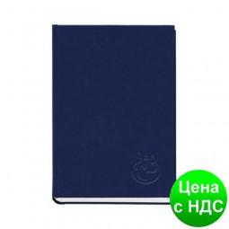 Книга алфавитная А5, 112листов,  145х201мм, баладек синий 211 05С