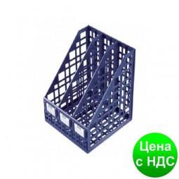 Лоток для бумаги тройной вертикальный сборный пластиковый синий A-Plus А-875 (618)