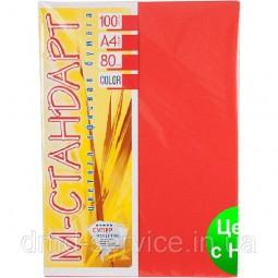 Бумага A4 'М-Стандарт' ИНТЕНСИВ 250/CO44 (Red) 100 л./80 гр.