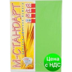 Бумага A4 'М-Стандарт' ИНТЕНСИВ 230/MA42 (Spring Green) 100 л./80 гр.