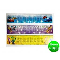 Набор закладок 12 шт. (картон) c таблицей умножения
