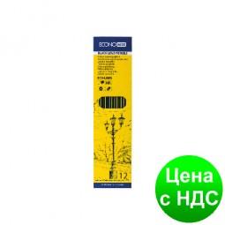 Набор чернографитных карандашей для черчения ECONOMIX 12 шт. разной твердости (4Н-6В) E11304
