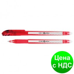 Ручка шариковая пиши-стирай OPTIMA CORRECT 0,5 мм, пишет красным O15338-03