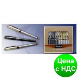 Ручка металлическая поворотная BAIXIN BP921 (золото+белый/синий(золото+серебро))