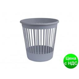 Корзина офисная для бумаги 10л., пластик, серый 82060