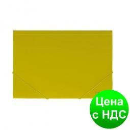 """Папка пластиковая  А4 на резинке Format, фактура """"помаранч"""", желтая F38601-05"""