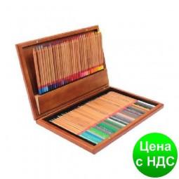 """Карандаши цветные """"MARCO"""" Renoir в деревянной коробке (72 цвета) 3100-72WB"""