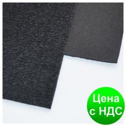 Фоамиран с флоком/ворсистый ЧЕРНЫЙ  10 листов (2мм/20*30cm)