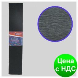 Бумага креповая 55% черная 50*200 см., 20г/м2