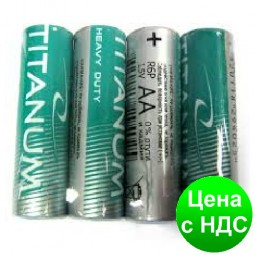 Батарейка солевая Titanum R6P/AA 4pcs SHRINK (пальчик) GR