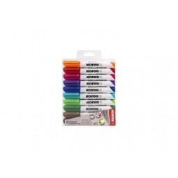 Набір маркерів для білих дошок KORES 1-3 мм, 10 кольорів