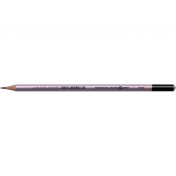 Олівець чорнографітний Optima PEARL HB корпус асорти, заточенный