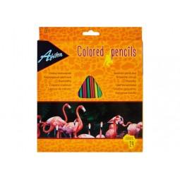 """Олівці кольорові пластикові """"Animal World"""", 24 кольори"""