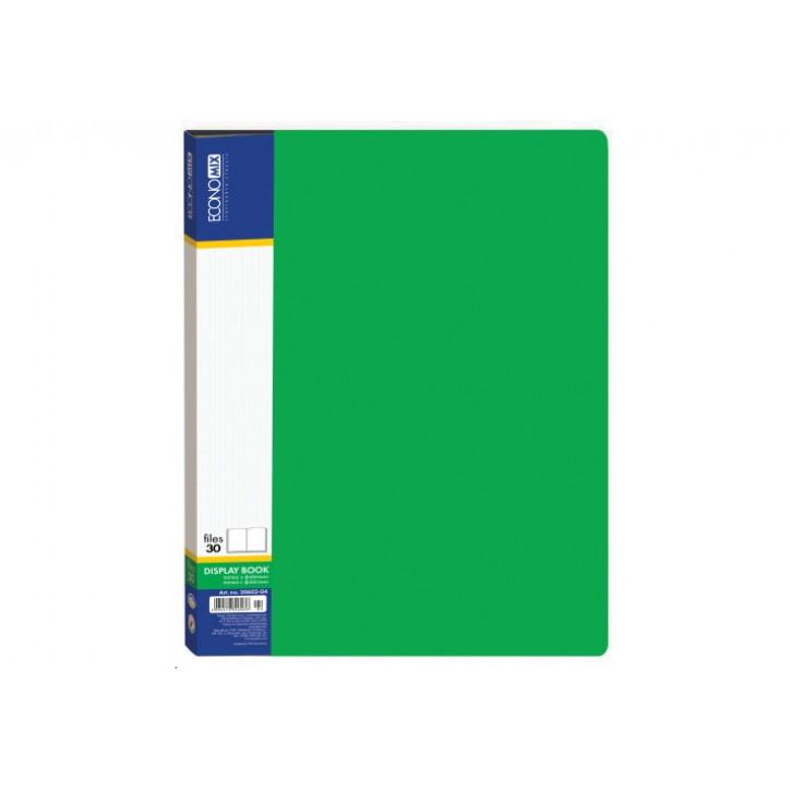 Папка А4 з 30 файлами Economix, зелена