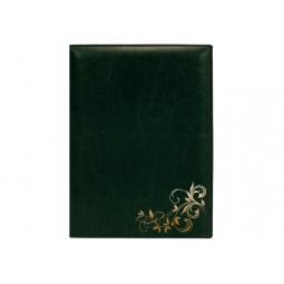"""Папка тиснення """"Візерунок"""", Nebraska, зелена (золото)"""