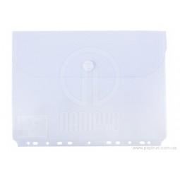 Папка-конверт А4 на липучці з перфорацією Economix, горизонтальне завантаження, 180 мкм, прозора