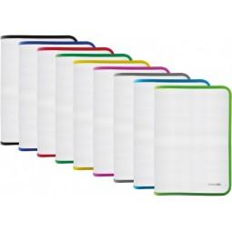 Папка-пенал пластикова на блискавці В5, фактура: тканина, асорті