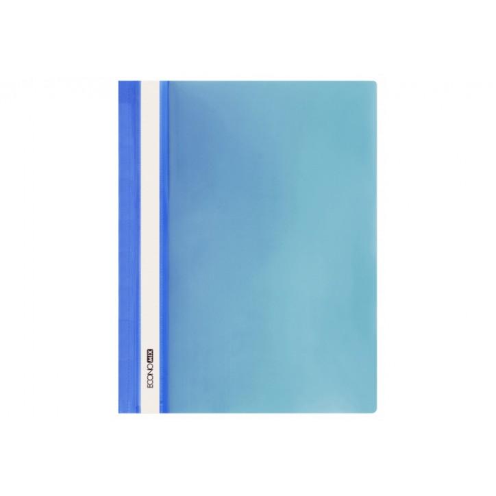"""Папка-швидкозшивач А4 Economix без перфорації, фактура """"глянець"""", синя"""