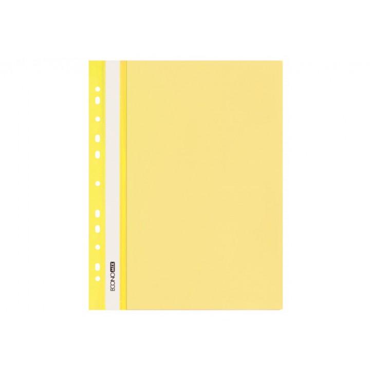 "Папка-швидкозшивач А4 Economix з перфорацією, фактура ""глянець"", жовта"