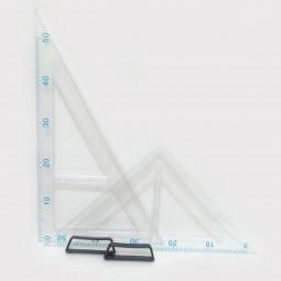 Набор треугольников для школьной доски (2 шт) прозрачные №0214