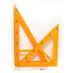 Набор треугольников для школьной доски (2 шт) прозрачные №5965