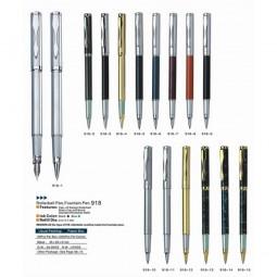Ручка металлическая перьевая BAIXIN FP-918 (мрамор с золотом)