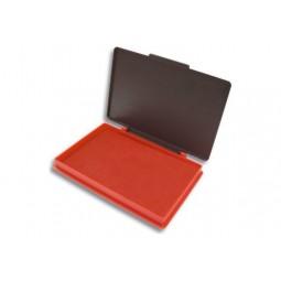 Подушка штемпельна, настільна KORES, розмір 110х70 мм, червона