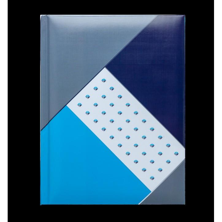 Блокнот FUSION, А-5, 80л., кл., тв. обл., глян. лам. с поролоном, синий