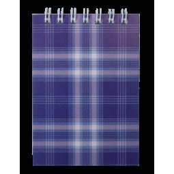 """Блокнот на пружине сверху, А-7, 48л., """"Shotlandka"""", фиолетовый, клетка, картонная обложка"""