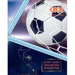 Папка для труда FOOTBALL, картонная, на резинке А4+ (300х212х28мм), KIDS Line