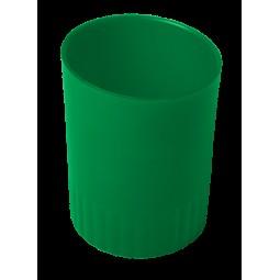 Стакан пласт. для письменных принадлежностей JOBMAX, зеленый