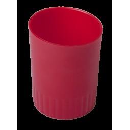 Стакан пласт. для письменных принадлежностей JOBMAX, красный