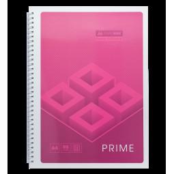 Тетрадь на пружине PRIME А4, 96л., клетка, в картонной обложке, розовый