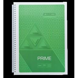 Тетрадь на пружине PRIME А4, 96л., клетка, в картонной обложке, салатовый