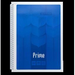 Тетрадь на пружине PRIME А4, 96л., клетка, в картонной обложке, синий